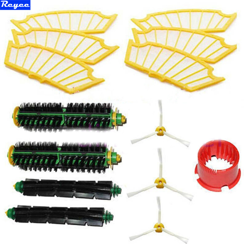 Side brush Filter 3 armed Beater Brush Bristle kit For iRobot Roomba Vacuum 500 Series Cleaning Kit Free shipping in Pack New 3pc brush replacement mini kit 6 armed for irobot roomba 500 series free shipping