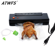 Check Price ATWFS Household Multi-function Best Food Vacuum Sealer Saver Home Automatic Vacuum Sealing Packer Plastic Packing Machine Bags