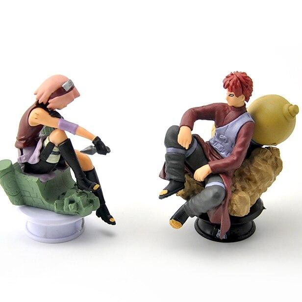 6pcs/lot 9.5cm Naruto Chess Action Figures Toys New Sasuke Naruto Shippuden Uzumaki Hinata Madara Kakashi Model Toy 3
