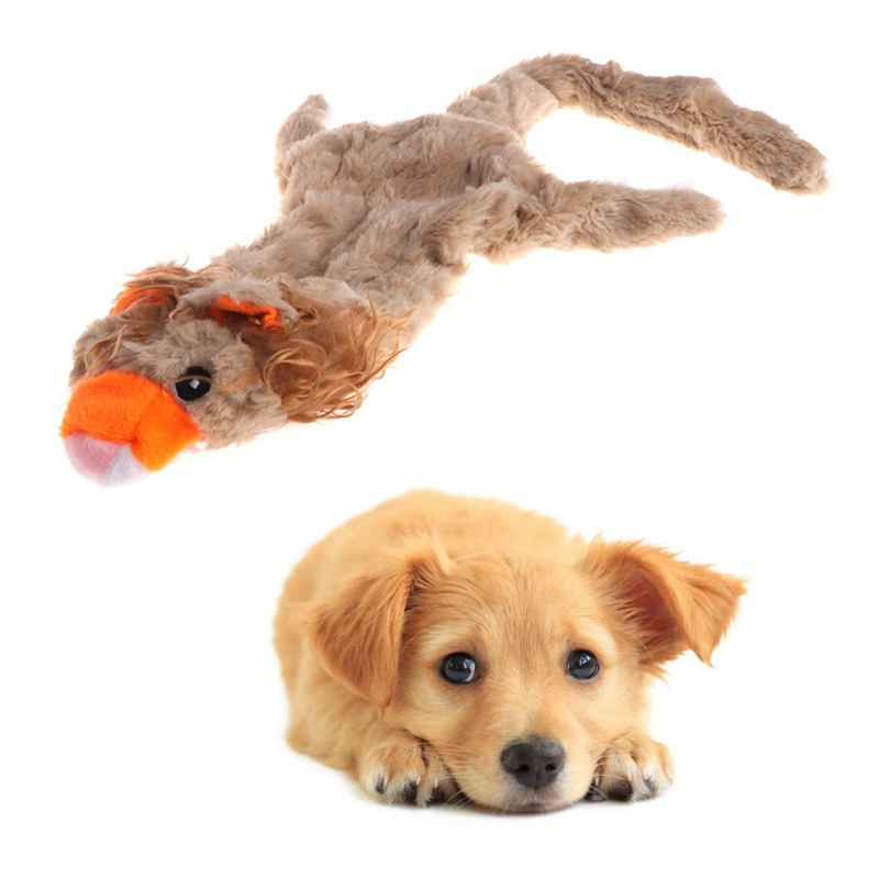 New Pet Toy Cat Dog Squeaker Puppy Plush Animal Shape Cute Sound Lifelike Long Lion
