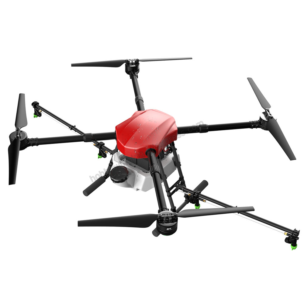 New 4-axis Spray Agriculture drone w/10L spraying pump system Waterproof body FOC ESC 8118 Motor Integrated Power System 4 axis waterproof spray agriculture drone frame w 10l tank spraying system 1300mm wheelbase folding uav 10kg hexacopter