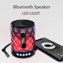 Беспроводной лучший Bluetooth динамик Портативный Мини Красочный светодиодный Динамик дизайн для ПК Android ISO мобильного телефона
