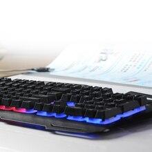 IMice Wired Gaming Keyboard 104 Keys Backlit Keyboards Mechanical Feeling Metal Gamer Keyboard For Tablet Desktop Teclado