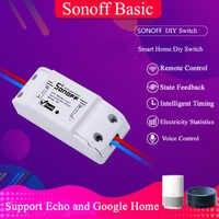 Itead Sonoff Basic R2 WiFi переключатель, умный дом беспроводной пульт дистанционного управления интеллектуальный таймер DIY универсальный переключат...