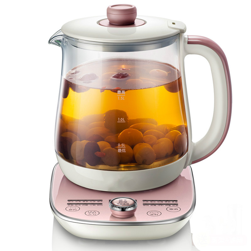 NEW Health pot automatic thickening glass multi-functional thermal insulation mini electric tea flower pot цены онлайн