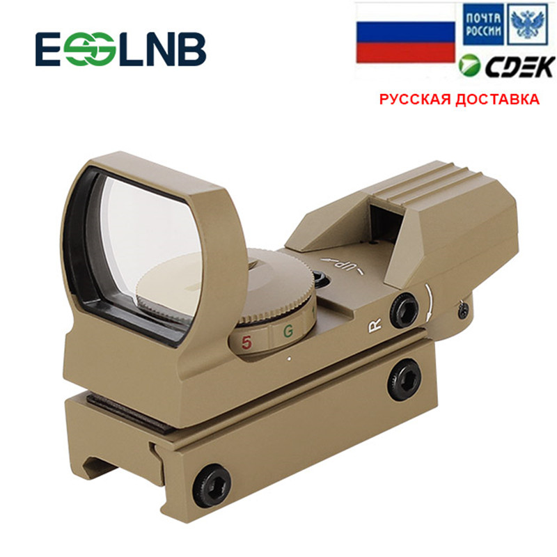 Red Dot Sight Scope Reflex Sight With 4 Reticles And 20mm Rail Mounts-Waterproof Shockproof With 5 Adjustable Brightness