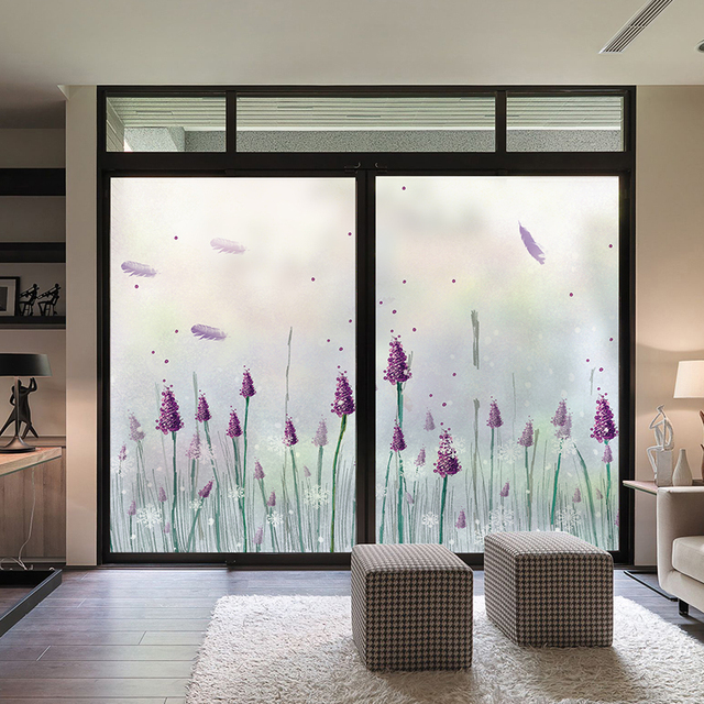 Frosted Glass Stickers Bathroom Glass Doors Light Opaque Living Room  Sliding Door Decoration Electrostatic Foil