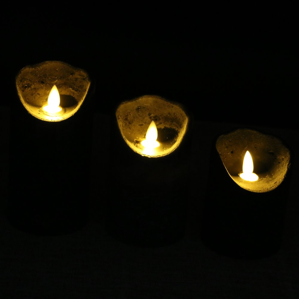 Multi Wick Candles Aliexpresscom Buy 3pcs Lot Marble Effect Led Flameless Moving