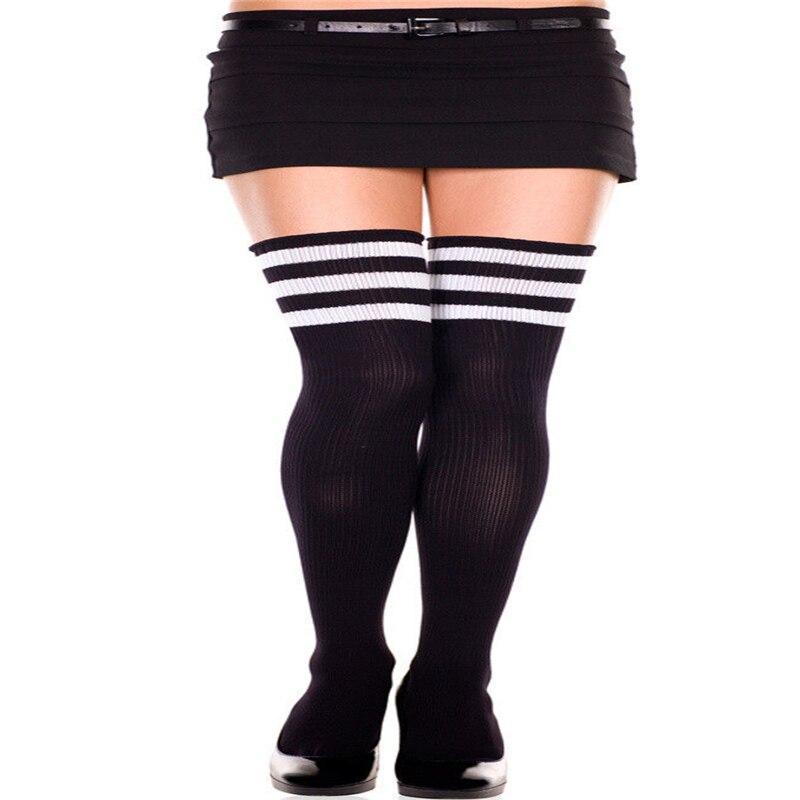 Fashion sexy woven long striped socks high school girl wild long tube cotton socks in Stockings from Underwear Sleepwears
