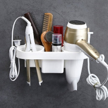 Hair Dryer Rack Comb Holder Bathroom Storage Organizer Self-