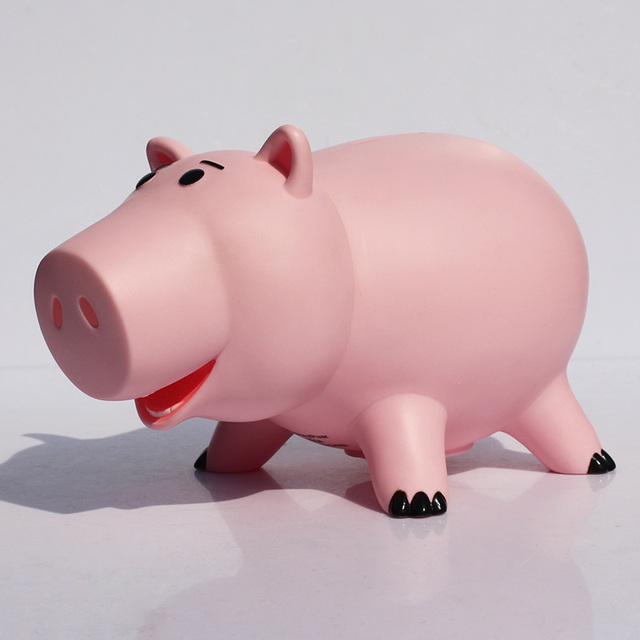 Toy Story Piggy Bank Pink Pig Coin Box Gift For Children 20cm