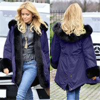 2018 coat winter woolen coat female European station in the long paragraph loose large size cotton clothing women's clothing