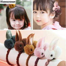 New Cute Animals Rabbit Style Hair Bands For Children Girls Felt Three-Dimensional Plush Rabbit Ears Headband Hair Accessories(China)