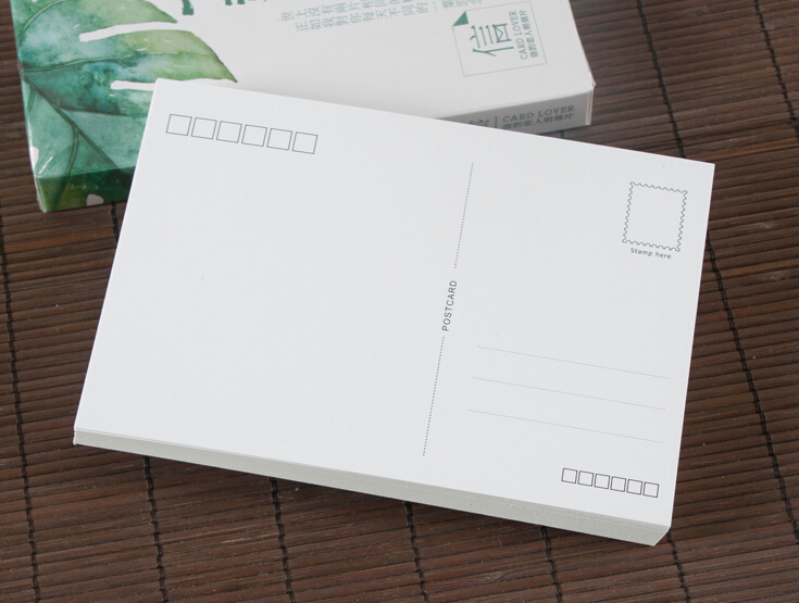 Size 100*140mm Blank White Post Card Blank Paper Postcard Gift Idea 300gsm Thickness 10/50/100 You Choose Quantity
