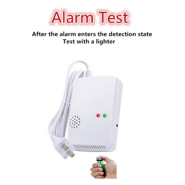 Standalone Combustible Gas (LPG, LNG)  Leak Detector Alarm  for Home Safety