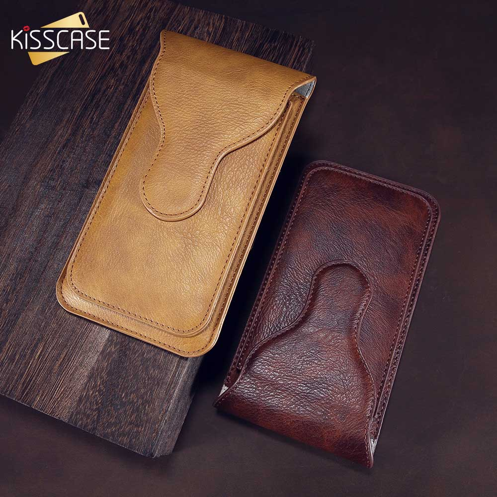 KISSCASE Universal Flip Phone Bag Case For iPhone 7 6s 6 8 Plus X ten Leather Wallet Purse Belt Phone Shells For iPhonex Capa 10