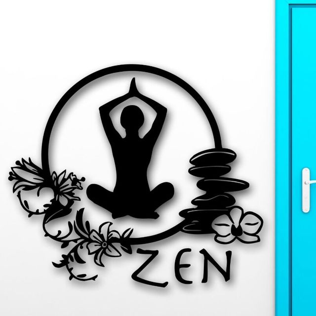 Wall Stickers Zen Meditation Yoga Health Wall Decals Enlightenment