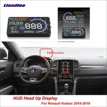 цена на Liandlee Function HUD Car Head Up Display For Renault Duster Koleos 2016-2018 Safe Driving Screen OBD Data Projector Windshield