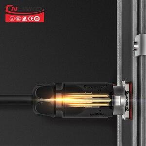 Image 5 - Cnlinko LP series M24 PBT matériel plastique, 3 4 broches 30A, prise de soudure, adaptateur dalimentation, câble, connecteur étanche IP67