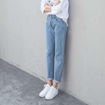 8173a623016 Product Offer. Новая мода плюс размеры для женщин Краткое джинсовые брюки  прямого покроя большой ярдов свободные BF ветер Прямые Джинсы бойфренда ...