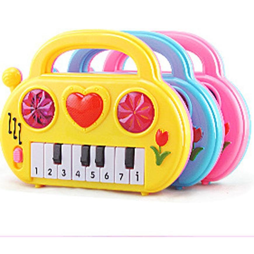 Бесплатная доставка Розовый Новый Беспроводной Игрушки для девочек и мальчиков детские электронные Органы музыкальный инструмент подарок...