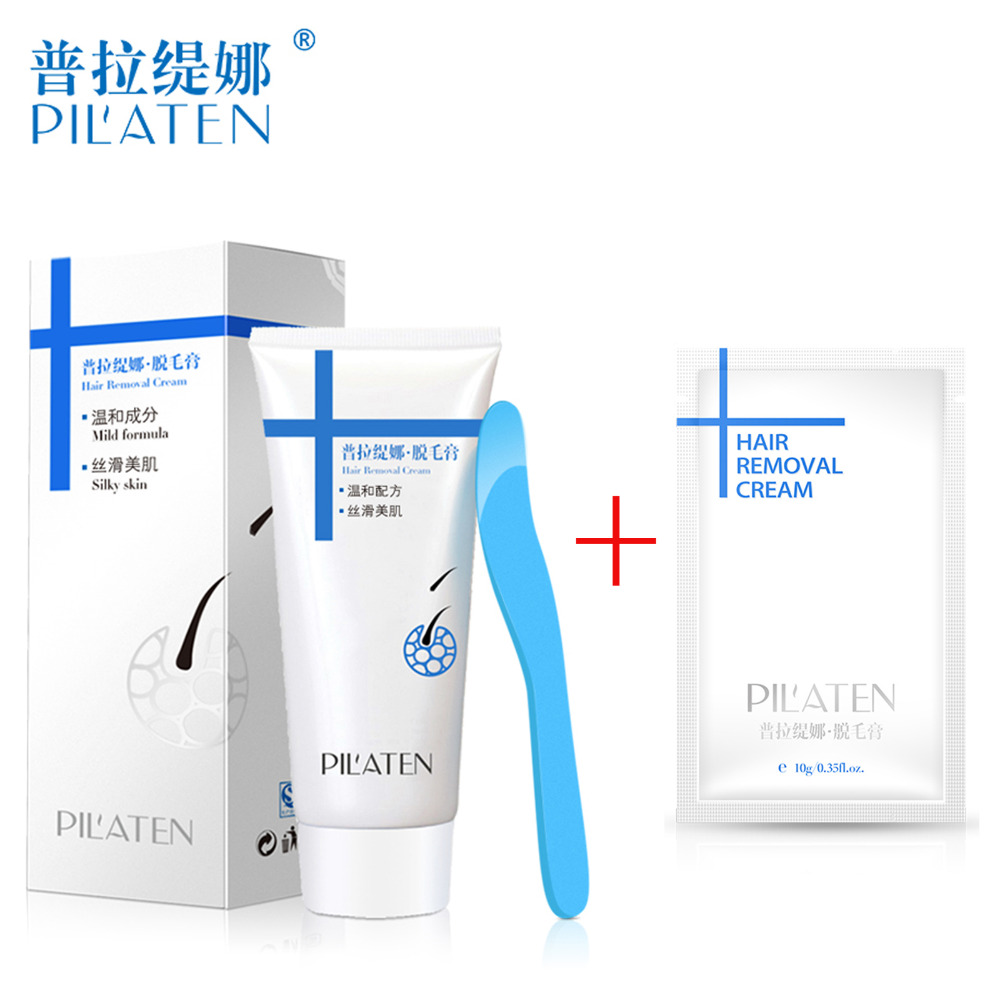 100g Tube <font><b>PILATEN</b></font> Natural <font><b>Hair</b></font> <font><b>Removal</b></font> <font><b>Cream</b></font> <font><b>Unisex</b></font> Painless Depilatory For Body Leg Armpit With 1 Pcs Travel <font><b>PILATEN</b></font> Depilatory