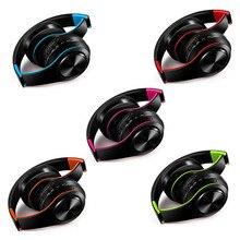 חמישה צבעים אלחוטי Bluetooth אוזניות סטריאו בגימור אוזניות תמיכה SD כרטיס עם מיקרופון עבור Xiaomi Iphone Sumsamg Tablet