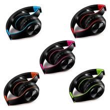Vijf kleuren draadloze Bluetooth hoofdtelefoon stereo hoofdband headset ondersteuning sd kaart met mic voor xiaomi iphone sumsamg tablet