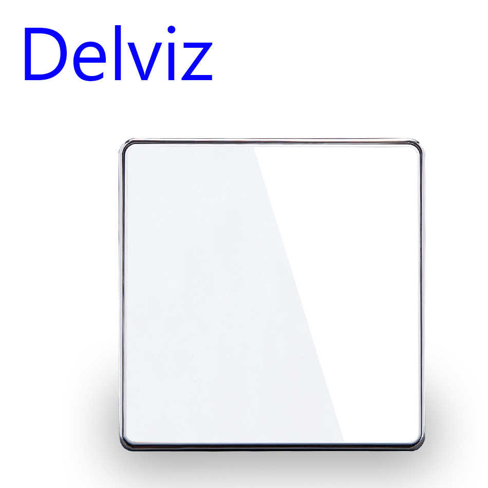 Delviz Kaca Kristal Switch 1 Gang 1way /2way Tersembunyi Switch,16A EU/UK Standar Lampu, panel Besar Mewah Dinding Kunci Switch
