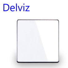 Delviz สวิทช์คริสตัลแก้วคริสตัล 1 GANG 1Way/2WAY สวิตช์ปิดภาคเรียน,16A EU/UK มาตรฐานสวิทช์ไฟ,ขนาดใหญ่แผง LUXURY Wall KEY SWITCH