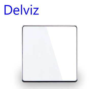 Delviz przełącznik ze szkła kryształowego 1 Gang 1way 2way przełącznik wpuszczany 16A standardowy włącznik światła ue UK duży panel luksusowy przełącznik kluczykowy ścienny tanie i dobre opinie CN (pochodzenie) Effect of glass Akrylowe ROHS Przełączniki 1 year DZ-D91-11 2 Przełącznik Wciskany White Black 250V