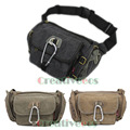 Men Canvas Casual Travel  Riding Motorcycle Hip Bum Belt Sling Fanny Pack Waist  Bag