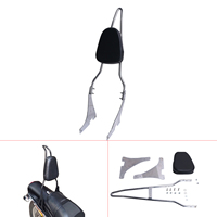 Motorcycle Rear Luggage Rack Sissy Bar Backrest Cushion Pad For Harley Sportster XL 883 1200 XL883 XL1200 2004 Up #58212