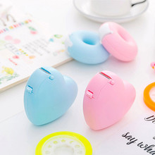 Stationery Cute handwork tape Dispenser Candy Love Heart sweet Shape Tape cutter Invisible with a tape office School Supplies