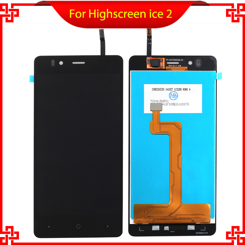 For Highscreen ice 2 LCD Display With Touch Screen Digitizer Assembly Original New Replacement Parts with