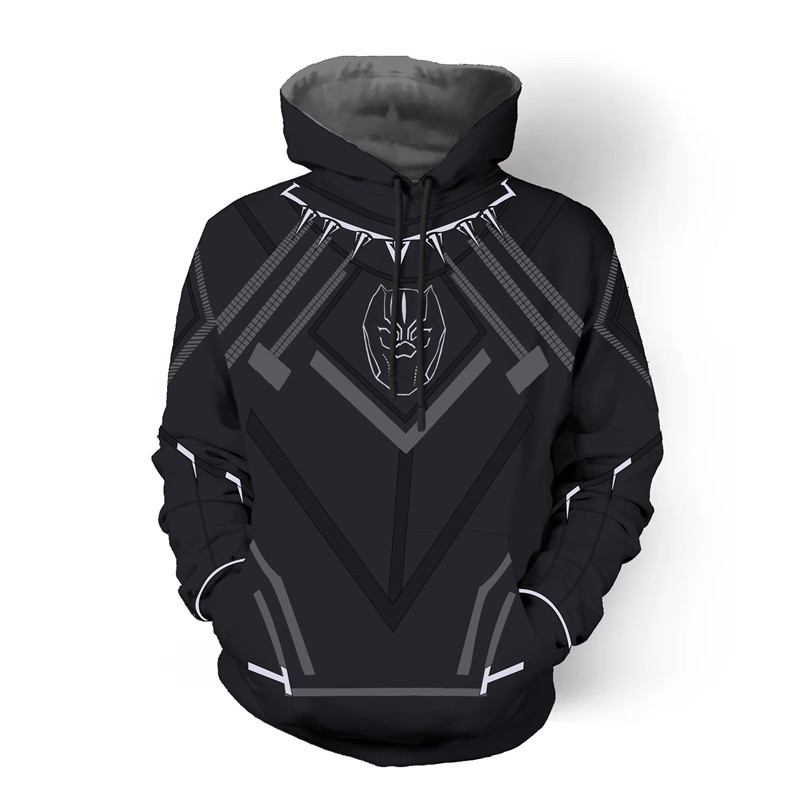 Black Panther Avenger 3D print Men Pullover hoodies Halloween Unisex Costume Fashion Hoodies Streetwear Cospaly Sweatshirt