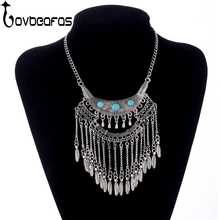 LOVBEAFAS 2018 Fashion Bohemian Collier Maxi Tassel Necklaces Collar Vintage Boho Necklace Women Gypsy Ethnic Jewelry