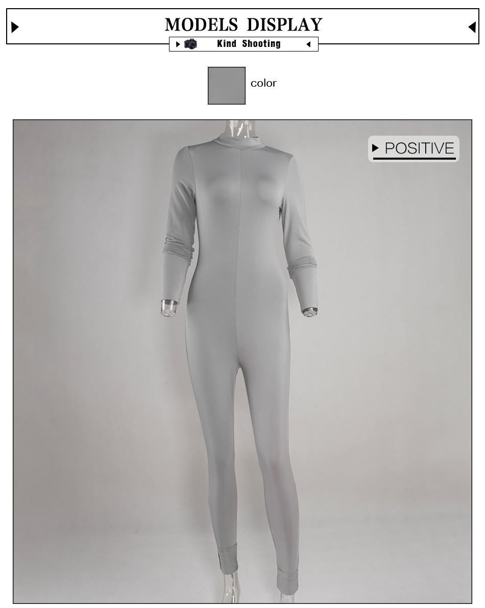 HTB1qIdgMpXXXXa7XXXXq6xXFXXX6 - New Hot Casual Women One Piece Jumpsuits Long Sleeve turtleneck Bodycon Back Zipper Long Pants Sexy Outfits Grey Rompers