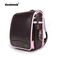 Coulomb Принцесса Звезда рюкзак для девочек школьная сумка ортопедические Randoseru японский PU Hasp водостойкие детские книги Сумки 2018 Новый