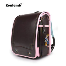 Coulomb Princess Star Backpack For Girl School Bag Orthopedic Randoseru Japanese PU Hasp Waterproof Baby Book Bags 2017 New