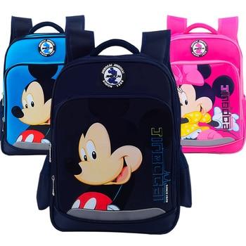 3D Mickey School Backpack for Boy Cartoon Minnie Schoolbag for Girl Waterproof Orthopedic School Backpack Children Backpacks