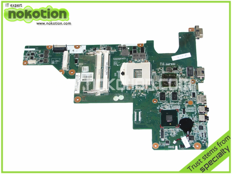 NOKOTION 646176-001 Laptop Motherboard for HP CQ43 intel HM55 ATI HD 6370 DDR3 Mainboard full tested 630819 001 for hp pavillion dv3 laptop motherboard hm55 non integrated with ati graphics ddr3 tested