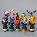 Frete Grátis Anime Dos Desenhos Animados Pikachu Pokeball ir PVC Action Figure Coleção Modelo Brinquedos Bonecas Brinquedos Clássicos 10 pçs/set PKFG228