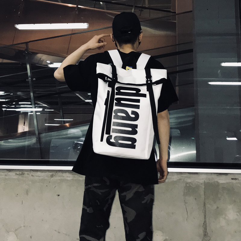 New Flip Backpack Hip Hop Men And Women Casual Wild Travel Backpack Tide  Brand Fashion Student 96d8644f74