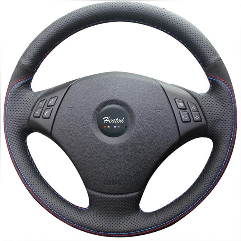 Steering Wheel Cover for BMW E90 320 318i 320i 325i 330i 320d X1 328xi 2007 braid on the steering wheel capa para volante элемент салона e90 318i 320i 325i 330i