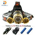 3T6 10000 lumens cree xm l t6 headlight led head lamp waterproof lights headlamp18650 rechargeable battery head flashlight torch