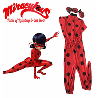Women Girls Miraculous Ladybug Cosplay Costume Cat Noir Cute Ladybug Romper Suit Miraculous Carnival Costumes Marinette
