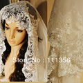 Luxury  Bridal Dress Veils WeddingCathedral length Alencon Lace Veil Ivory White For Bride