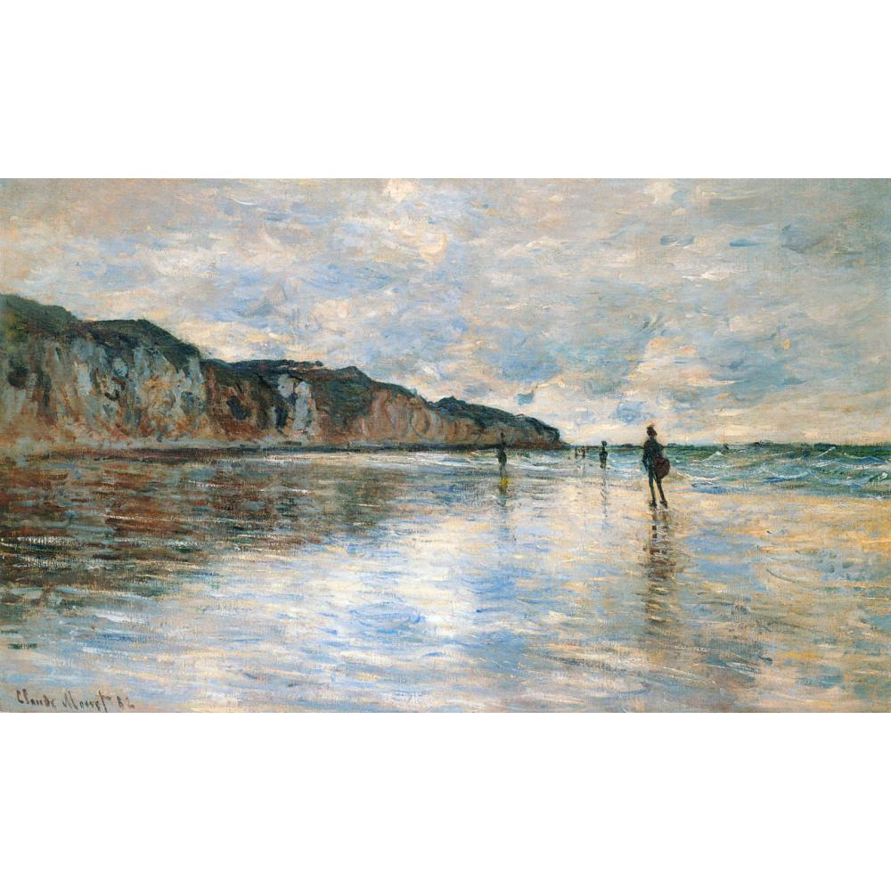 High quality Claude Monet paintings for sale Low Tide at Pourville Canvas art hand-paintedHigh quality Claude Monet paintings for sale Low Tide at Pourville Canvas art hand-painted