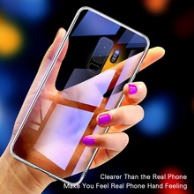 CYATO Tempered Glass Case Clear Cover For Samsung Galaxy S10 S10Plus S10Lite S9 S9Plus S8 S8Plus Note8 Note9 Phone Cases Capa